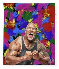 Dwayne Johnson Fleece Blanket