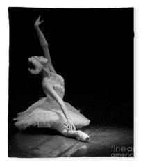 Dying Swan II. Fleece Blanket