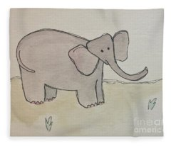 E Is For Elephant Fleece Blanket