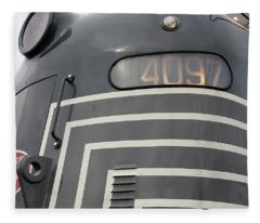 E M D E8 Diesel Locomotive Fleece Blanket