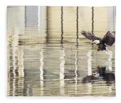 Eagle Abstract Fleece Blanket