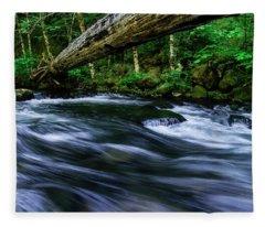 Eagle Creek Rapids Fleece Blanket