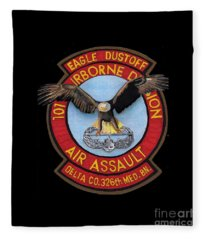 Eagle Dustoff Fleece Blanket