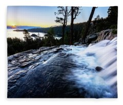 Eagle Falls At Emerald Bay Fleece Blanket