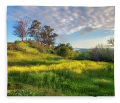 Eagle Grove At Lake Casitas In Ventura County, California Fleece Blanket
