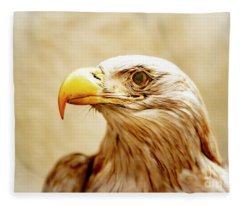 Fleece Blanket featuring the photograph Eagle by Mats Silvan