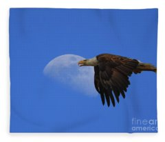 Eagle Moon Fleece Blanket