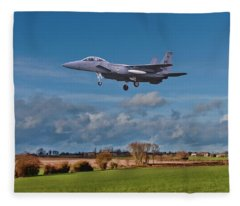Fleece Blanket featuring the photograph Eagle On Finals by Paul Gulliver