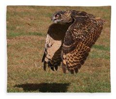 Eagle Owl On The Hunt 2 Fleece Blanket