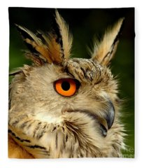 Eagle Owl Fleece Blanket