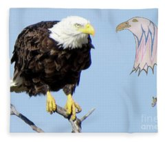 Eagle Reflection Fleece Blanket