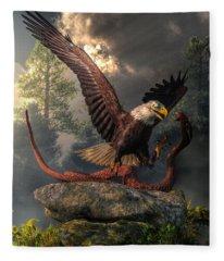 Eagle Vs Cobra Fleece Blanket
