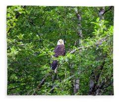 Eagle Watch Fleece Blanket