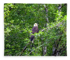 Eagle Watch Fleece Blanket