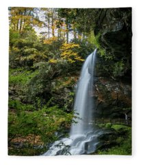 Early Autumn At Dry Falls Fleece Blanket