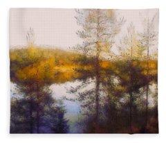 Early Autumn In Finland Fleece Blanket