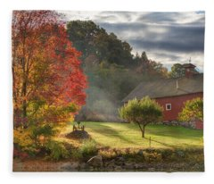 Early Autumn Morning Fleece Blanket