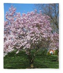 Early Blooms Fleece Blanket