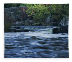 Early Fall At Eau Claire Dells Park Fleece Blanket