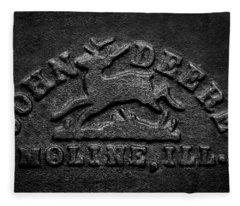 Early John Deere Emblem Fleece Blanket