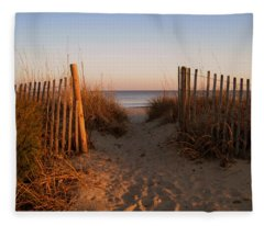Early Morning At Myrtle Beach Sc Fleece Blanket