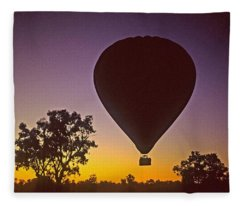 Early Morning Balloon Ride Fleece Blanket