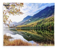 Early Morning Buttermere Fleece Blanket