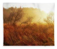 Early Morning Country Fleece Blanket