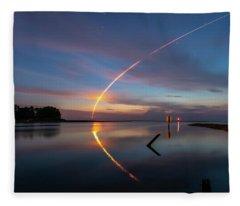 Early Morning Launch Fleece Blanket
