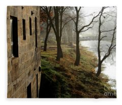 Early Morning Mist On The I  M Canal Fleece Blanket