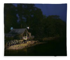 Early Morning On The River Fleece Blanket