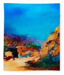 Early Morning Over The Canyon Fleece Blanket