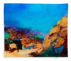 Early Morning Over The Canyon Fleece Blanket