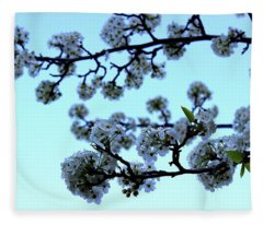 Early Morning Pear Blossom Fleece Blanket