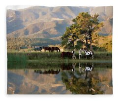 Early Morning Rendezvous Fleece Blanket