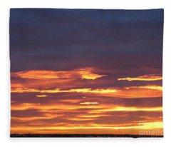 Early Prairie Sunrise Fleece Blanket