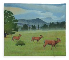 Early Spring Evergreen Fleece Blanket