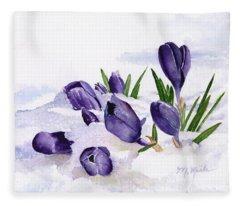 Early Spring In Montana Fleece Blanket