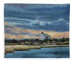 Early Winter Nocturne Fleece Blanket