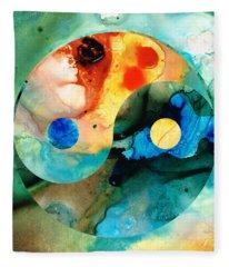 Earth Balance - Yin And Yang Art Fleece Blanket