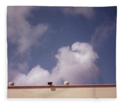 Earth Calling Sky  Fleece Blanket