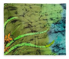 Earth Flower Fleece Blanket
