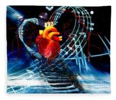Earth Heart Fleece Blanket