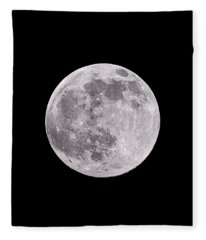 Earth's Moon Fleece Blanket