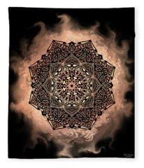 Earthy Mandala Fleece Blanket