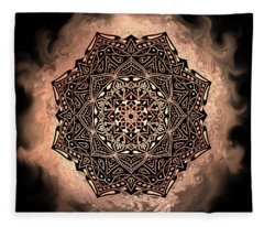 Earthy Mandala Fleece Blanket