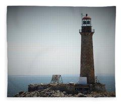 East Coast Lighthouse Fleece Blanket
