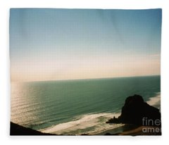 East Coastline In New Zealand Fleece Blanket