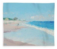 East Hampton Beach Fleece Blanket