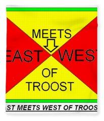 East Meets West Of Troost Fleece Blanket